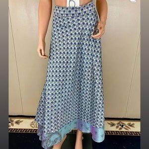 "Dresses & Skirts - ""Magic Wrap"" Reversible Silk Wrap Skirt Long"
